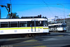 LOS ANGELES--130 (OB), 163 at Long Beach Blvd./8th Street (milantram) Tags: electricrailtransport railsystemslosangeles losangeles lacmta blueline streetcars trolleys trams lightrail