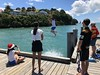 Making a Splash at Torpedo Bay (neville samuels) Tags: newzealand auckland devonport torpedobay christmasday