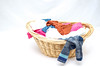 Laundry Basket with Clothes on a White Background (wuestenigel) Tags: household laundry basket clothes isolated washing housework clean korb wäsche hausarbeit isoliert noperson keineperson fun spas desktop wicker korbwaren child kind one ein little wenig woman frau nature natur relaxation entspannung wood holz leisure freizeit family familie casual beiläufig bright hell color farbe