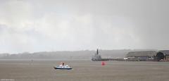 Hamoaze (peterphotographic) Tags: pc270118edwm hamoaze olympus tough tg5 ©peterhall plymouth rivertamar tamar devon westcountry england uk britain harbour port cremyllferry ferry boat ship vessel navy warship royalnavy hazy winter bleak squall