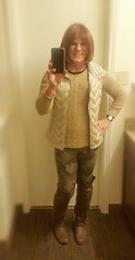 camo leggings and otks (krislagreen) Tags: tg transgender cd crossdresser leggings otkboots sweater puffervest femme femminzation femminized