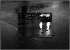 2 - Prémices du déluge (melina1965) Tags: 2017 décembre december îledefrance valdemarne nikon coolpix s3700 créteil mosaïque mosaïques mosaic mosaics collage collages noiretblanc blackandwhite bw sol sols pavement lumière light voiture voitures car cars pluie rain