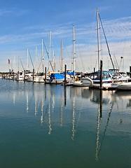 Marina Reflections (Pat's Pics36) Tags: nikond7000 nikkor18to200mmvrlens usa washington semiahmoo marina sailing ship reflection