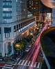 downtown central garage (pbo31) Tags: bayarea california night dark nikon d810 december 2017 winter city boury pbo31 color lightstream motion traffic roadway street infinity sanfrancisco urban over hotel black downtown unionsquare tenderloin motionblur ofarrellstreet vertical panorama large stitched panoramic red lowernobhill cross walk gym mason