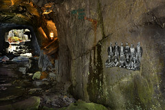 This was my goal. (PentlandPirate of the North) Tags: dinorwic harriet dinorwig slate mine quarry snowdonia northwales painting banksy workers tunnel adit