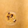 Rice pudding dessert with chocolate cookie crumbs. (annick vanderschelden) Tags: glass yellow orange cookie chocolate crumbs rice cornstarch food dessert culinary cooking milk belgium