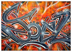 * Joël * (-ABLOK-) Tags: tag graff abstrait toile peinture canvas graffiti bombe street art ablok coulure pinceau création feutre illustration