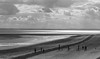 SPURN HEAD_DSC_8219_LR_2.5-4 (Roger Perriss) Tags: spurn spurnhead s300s blackandwhite beach posts walkers sea clouds peninsula