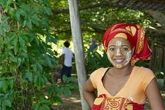 Malagasy guide at the sacred banyan tree