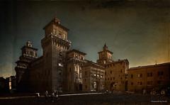 Italien - Castello Estense Di Ferrara (Pana53) Tags: photographedbypana53 pana53 texturedbypana53 textured textur basilica palladios italien vicenza stadt platz sehenswürdigkeit urlaubsfotografie gestaltung texturen nikon nikond810 gebäude himmel turm architektur personen