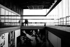 (fernando_gm) Tags: blackandwhite bw blancoynegro monochrome monocromo monocromatico mujer people person persona museum museo anvers antwerp amberes belgica belgium street calle callejera city ciudad fujifilm fuji 1024mm xt1 lines lineas geometry geometría gente interior edificio building