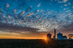 We Stop for Sunsets! (tquist24) Tags: goshen hdr indiana nikon nikond5300 outdoor barn blue clouds farm geotagged orange rural sky sunburst sunset unitedstates