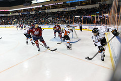"""Kansas City Mavericks vs. Kalamazoo Wings, January 5, 2018, Silverstein Eye Centers Arena, Independence, Missouri.  Photo: © John Howe / Howe Creative Photography, all rights reserved 2018. • <a style=""""font-size:0.8em;"""" href=""""http://www.flickr.com/photos/134016632@N02/39548716132/"""" target=""""_blank"""">View on Flickr</a>"""