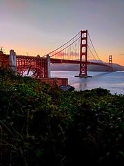 Color Breaks over the Horizon at Golden Gate (2017) (The ADHD Photographer) Tags: trafel summertime summer westcoast oceanfront california goldengatebridge sunset