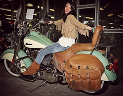 Back in the 70s (Elodie50a) Tags: model modelling style red vintage fashion cars modeling 70s seventies hippie