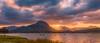 sunbeams over the range (andrew.walker28) Tags: sunbeams sun ornage rays moogerah dam landscape