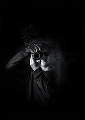 Lars Full Res Poster Image (lars_cronin) Tags: camera portrait blackwhite pose hands darkroom dark studio lighting light sunglasses think shot photoshoot time australia goldcoast pacific