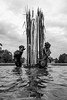 The fountain at the Zoo (dharder9475) Tags: 2017 bw blackandwhite bronze linolnparkzoo privpublic sculpture water