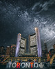 Toronto...A Planet Far Far Away (garycphoto) Tags: toronto trick colour canada city color clouds capture manipulation urban milky way space world photo photography photoshop