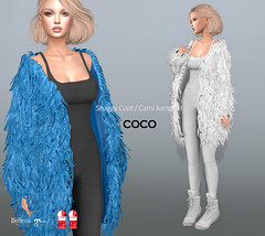 COCO New Release @Uber December 25th (cocoro Lemon) Tags: coco newrelease uber shaggy coat cami jumpsuit mesh secondlife fashion maitreya slink belleza