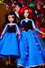 Ariel family (1) (Lindi Dragon) Tags: doll disney disneyprincess disneystore ariel eric mermaid little melody newyear handmade dress blue