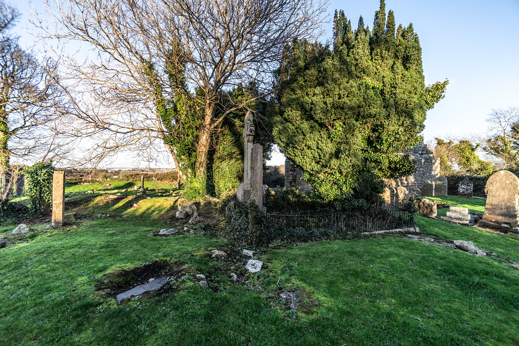 ANCIENT CHURCH AND GRAVEYARD AT TULLY [LAUGHANSTOWN LANE NEAR THE LUAS TRAM STOP]-134571