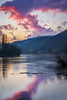Red sunset over the river - Roter Sonnenuntergang am Fluss (EXPLORED) (Vera Arnold) Tags: red rot sonnenuntergang sunset sky himmel wolken clouds river reflektion reflection fluss neckar badenwürttemberg eberbach