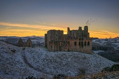 Crichton Castle at Sunset (MilesGrayPhotography (AnimalsBeforeHumans)) Tags: 1635 fe1635mm sonyfe1635mmf4zaoss architecture a7ii britain castle crichtoncastle fortress dusk europe evening fe f4 glow midlothian historic historicscotland iconic landscape lens lothians pathhead nighfall outdoors old oss photography landscapephotography photo ruins scotland sky scenic sunset scottish scottishlandscapephotography sonya7ii sony sonyflickraward snow cold freezing town twilight trees tower uk unitedkingdom village winter zeiss za stables crichtoncastlestables