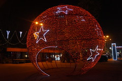 New Year Decoration (Alexanyan) Tags: yerevan opera square armenia new year christmas decoration lights night capitol city red