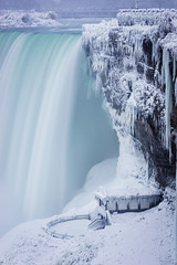 Frosted Falls (Explored 2017/12/31) (Lee Chu) Tags: horseshoefalls niagarafalls project365 sel70200g sonynex6 ontario canada winter snow ice waterfall journeybehindthefalls