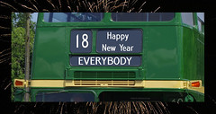 Happy New Year (Steve Guess) Tags: new years day 2018 aec routemaster rm2 london transport bus greetings card country area