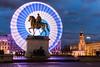 Lyon by night (hugsant) Tags: louisxiv granderoue nuit poselongue manège statue