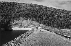 Stratified (35mm-Film) (pablo_blake) Tags: savageriver savagereservoir earthendam dam reservoir garrettcounty maryland rockstrata limestone mountain film 35mmfilm monochrome blackandwhite
