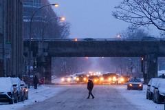 Lajeunesse (Jacques Lebleu) Tags: hiver neige automobiles piétons lajeunesse pov pointofview highway elevated