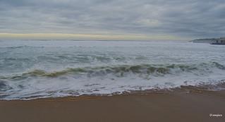 En la playa de San Lorenzo (Gijón)  Spain