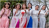 Friends From Abroad (RudyMareelPhotography) Tags: aodai asia hue vietnam graduates highschoolgraduates traditionaldress younggirls flickrclickx flickr ngc