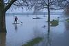 Rheinhochwasser - Rhine with high water (barbmz) Tags: rhein rhine hochwasser highwater flooding floods überflutung mainz stehpaddeln standuppaddleboarding riverbank brücke bridge