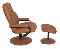 N1701TN_2 (RegencyOfficeFurniture) Tags: regency regencyofficefurniture regencyseating seating chair recliner reclining lounge swivel armchair vinyl ottoman footrest rotating lightweight impresa n1701 toffee tan