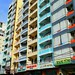 Colorful, narrow and tall buildings, Nha Trang, Vietnam