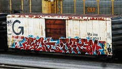 agent - trism (timetomakethepasta) Tags: agent trism freight train graffiti art sws mec boxcar maine central benching selkirk new york