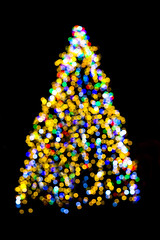 Christmas Bokeh (CoolMcFlash) Tags: xmas christmas tree depthoffield decoration bokeh lights colors colorful fujifilm xt2 night focus weihnachten baum weihnachtsbaum fest weihnachtsfest frohesfest merrychristmas bunt licht lichter farben unscharf fokus fotografie photography beleuchtet nacht xf 35mm f14 r