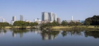 Hamarikyu Gardens is a public park in Chūō, Tokyo, Japan