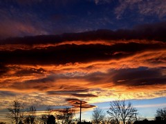 December 29, 2017 - Stunning sunset with wave clouds. (Joyce DeAnda Ginther)
