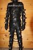 Locked up (leatherman2011) Tags: leather strait jacket restrained suit bondage hood fetish bound catsuit