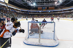 """Kansas City Mavericks vs. Kalamazoo Wings, January 5, 2018, Silverstein Eye Centers Arena, Independence, Missouri.  Photo: © John Howe / Howe Creative Photography, all rights reserved 2018. • <a style=""""font-size:0.8em;"""" href=""""http://www.flickr.com/photos/134016632@N02/25707994728/"""" target=""""_blank"""">View on Flickr</a>"""