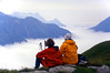 A stop along the way (giorgiorodano46) Tags: agosto1998 august 1998 giorgiorodano valferret svizzera suisse switzerland schweiz suisseromande romandie hiking nuvole clouds dentsdumidi lafouly paola mario lasasse analogic grey