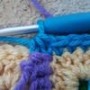 Yarn over and pull through all three loops completing the sc dec (crochetbug13) Tags: crochetbug crochetsquares grannysquares crochetblanket crochetafghan crochetthrow roseanne roseannereboot roseannesofablanket crocheted crocheting scrapyarn yarnstash