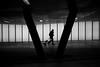 V (maekke) Tags: zürich oerlikon sbb publictransport trainstation underground urban architecture silhouette woman highcontrast streetphotography 35mm fujifilm x100t 2017 switzerland ch bw noiretblanc