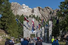 Mount Rushmore Monument (string_bass_dave) Tags: presidents georgewashington sd granite flag usa flags monument blackhills nationalpark unitedstates southdakota flickr mountrushmore keystone us