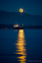 Wolf Moon, 1st full moon of 2018 (Moe W) Tags: jericho beach pier vancouver bc canada englishbay fullmoon northshoremountains ship city sea boat water sky reflections trees kitsilano supermoon moonrise stanleypark pacificocean wolfmoon oldmoon icemoon snowmoon moonafteryule bluemoon
